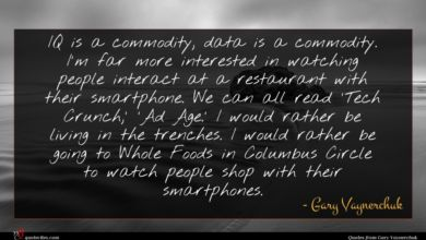 Photo of Gary Vaynerchuk quote : IQ is a commodity …