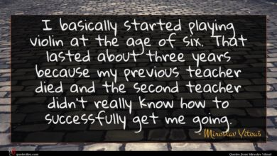 Photo of Miroslav Vitouš quote : I basically started playing …