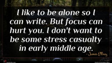 Photo of James Ellroy quote : I like to be …