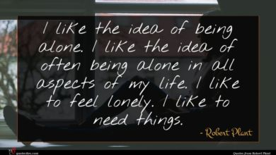Photo of Robert Plant quote : I like the idea …