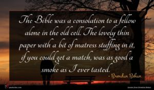 Brendan Behan quote : The Bible was a ...