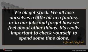 Amanda Seyfried quote : We all get stuck ...