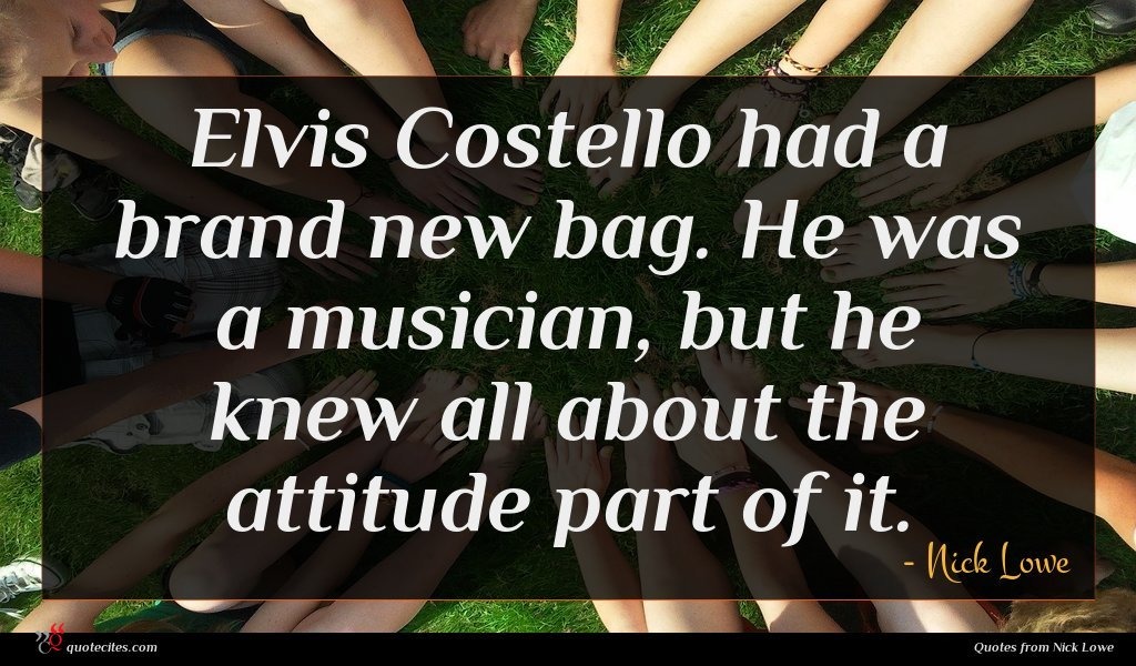 Elvis Costello had a brand new bag. He was a musician, but he knew all about the attitude part of it.