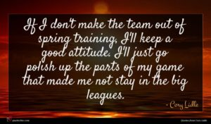 Cory Lidle quote : If I don't make ...