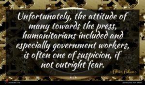 Alvin Adams quote : Unfortunately the attitude of ...