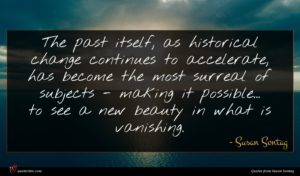 Susan Sontag quote : The past itself as ...