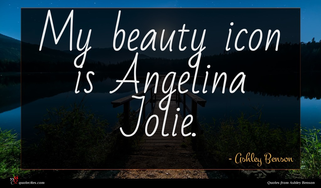My beauty icon is Angelina Jolie.