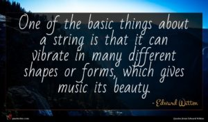 Edward Witten quote : One of the basic ...