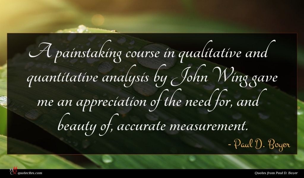 A painstaking course in qualitative and quantitative analysis by John Wing gave me an appreciation of the need for, and beauty of, accurate measurement.