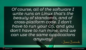 Jamie Zawinski quote : Of course all of ...