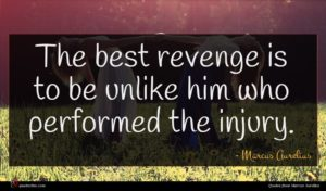 Marcus Aurelius quote : The best revenge is ...