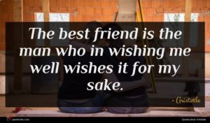 Aristotle quote : The best friend is ...
