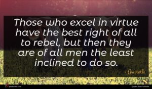 Aristotle quote : Those who excel in ...