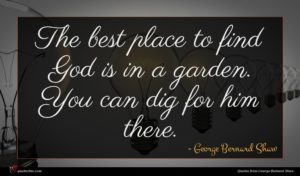 George Bernard Shaw quote : The best place to ...