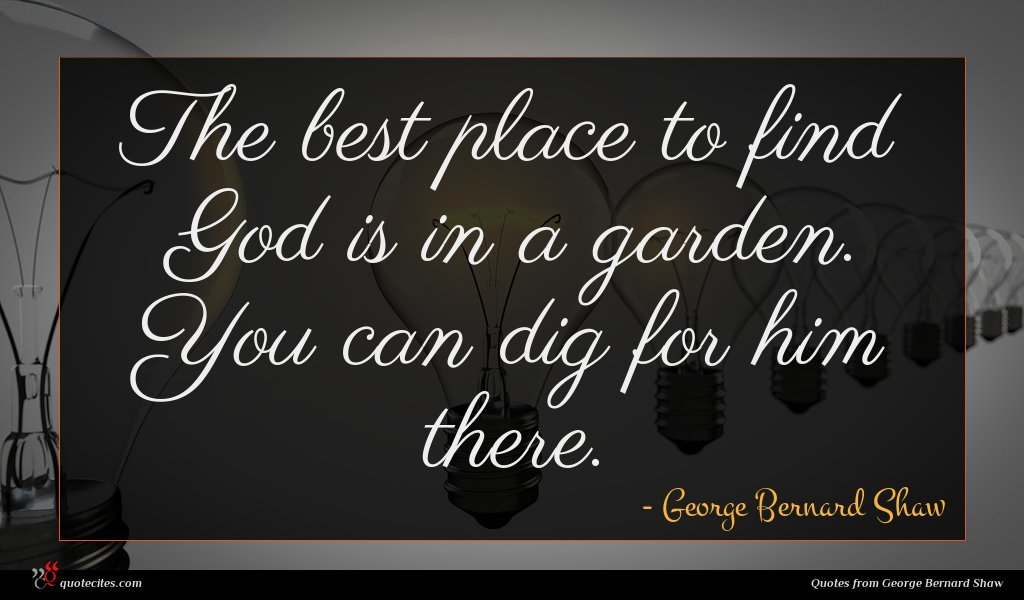Photo of George Bernard Shaw quote : The best place to …