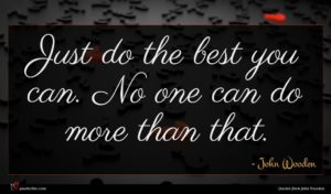 John Wooden quote : Just do the best ...