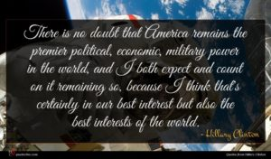 Hillary Clinton quote : There is no doubt ...