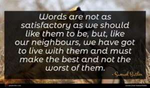 Samuel Butler quote : Words are not as ...