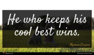 Norman Cousins quote : He who keeps his ...