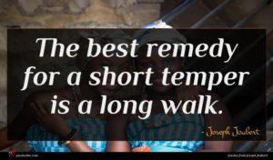Joseph Joubert quote : The best remedy for ...