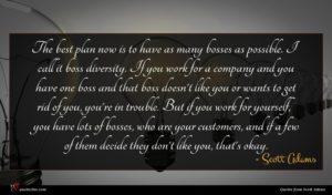 Scott Adams quote : The best plan now ...