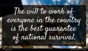Bhumibol Adulyadej quote : The will to work ...