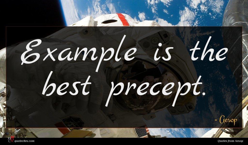 Example is the best precept.