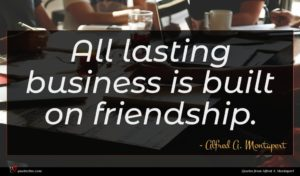 Alfred A. Montapert quote : All lasting business is ...
