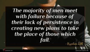 Napoleon Hill quote : The majority of men ...