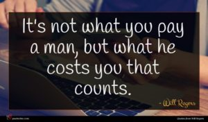 Will Rogers quote : It's not what you ...