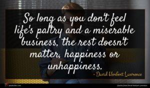 David Herbert Lawrence quote : So long as you ...