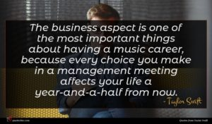Taylor Swift quote : The business aspect is ...