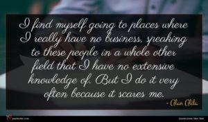 Alan Alda quote : I find myself going ...