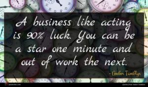 Amber Tamblyn quote : A business like acting ...