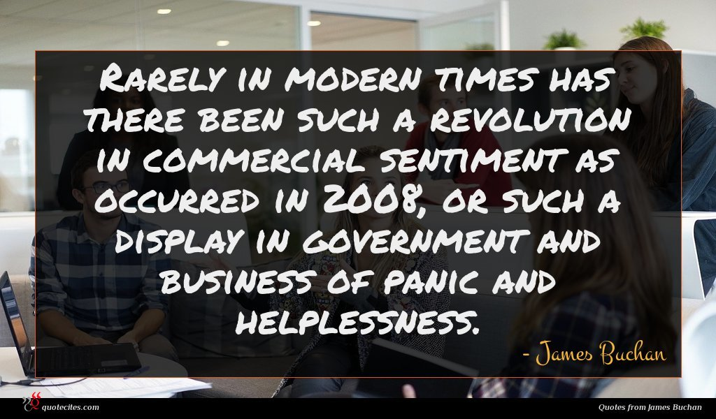 Rarely in modern times has there been such a revolution in commercial sentiment as occurred in 2008, or such a display in government and business of panic and helplessness.