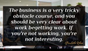 Elisabeth Röhm quote : The business is a ...
