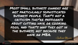 Andrew Mason quote : Most small business owners ...