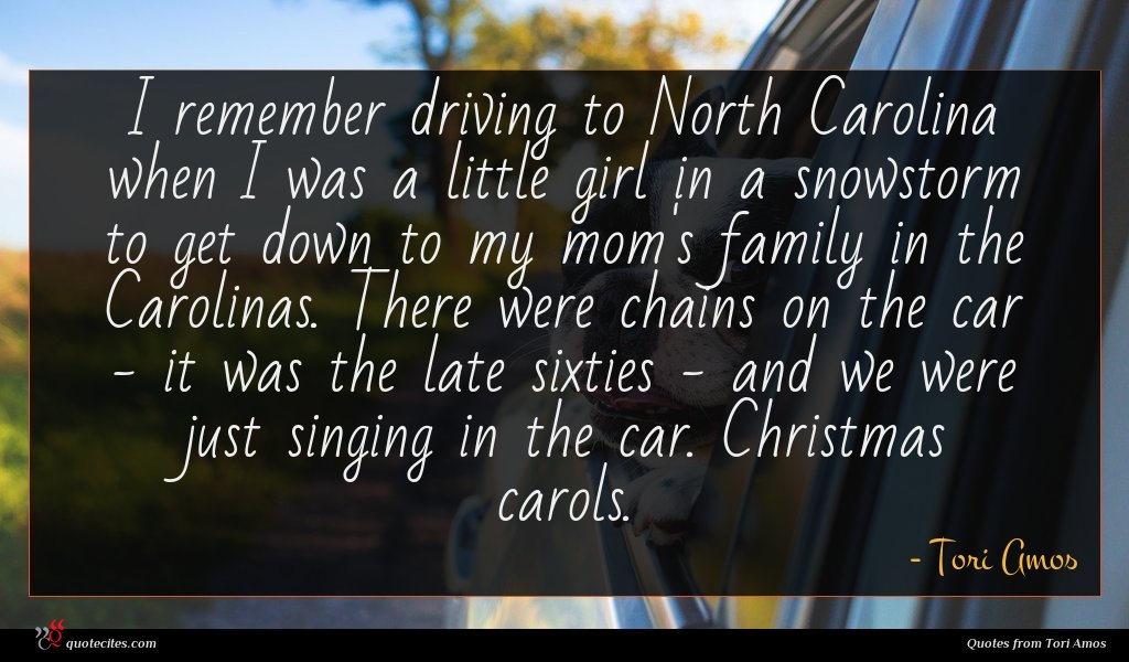 Photo of Tori Amos quote : I remember driving to …
