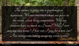 James Hillman quote : The culture is going ...