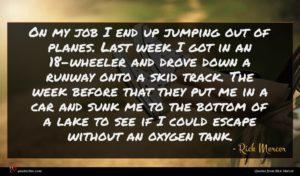Rick Mercer quote : On my job I ...