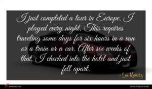 Lee Konitz quote : I just completed a ...