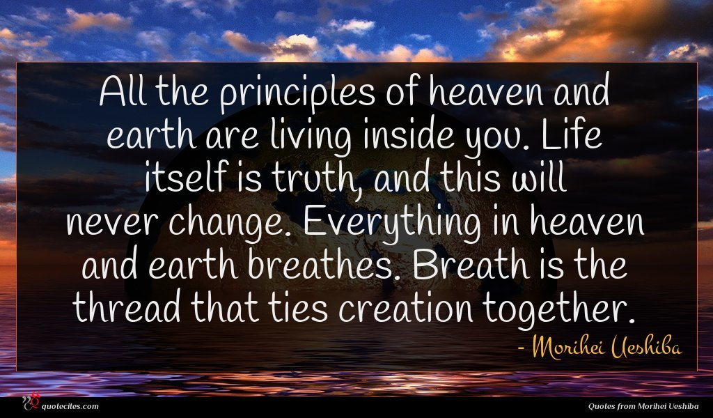 Photo of Morihei Ueshiba quote : All the principles of …