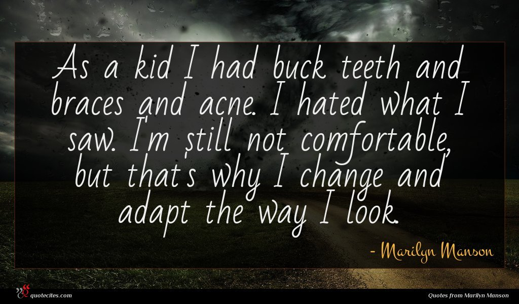 Photo of Marilyn Manson quote : As a kid I …
