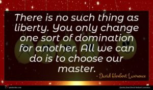 David Herbert Lawrence quote : There is no such ...