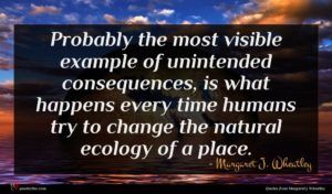Margaret J. Wheatley quote : Probably the most visible ...