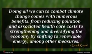 David Suzuki quote : Doing all we can ...