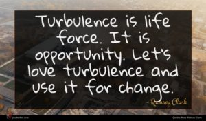 Ramsey Clark quote : Turbulence is life force ...