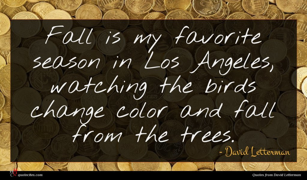 Photo of David Letterman quote : Fall is my favorite …