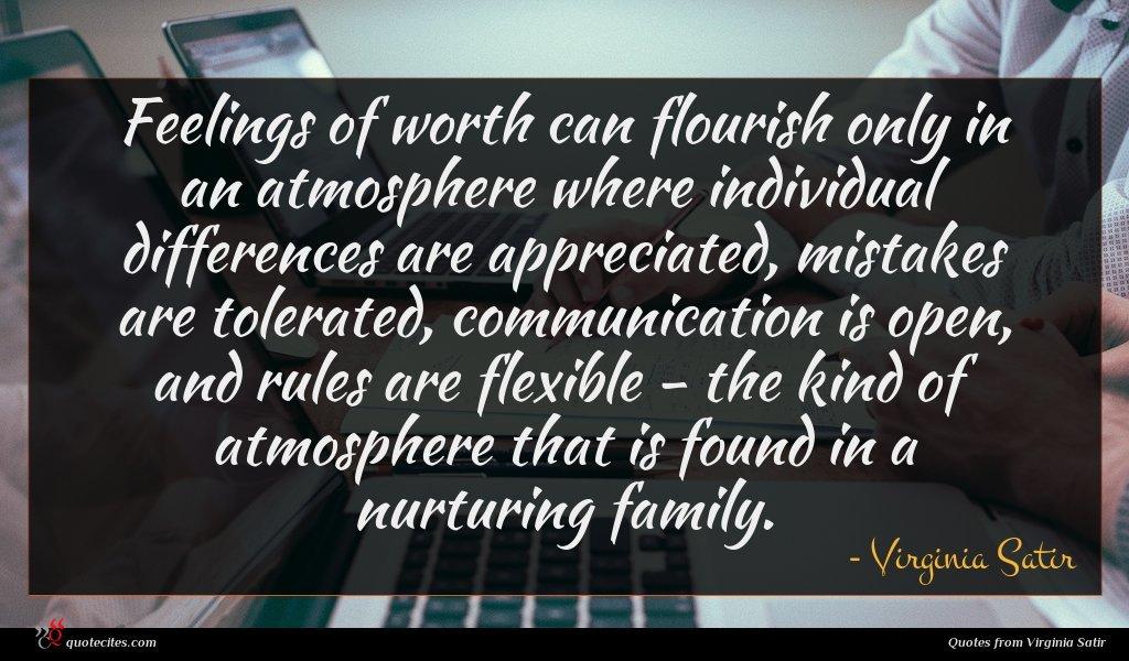 Photo of Virginia Satir quote : Feelings of worth can …