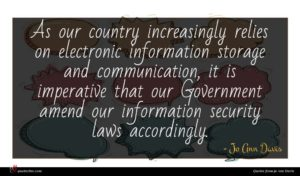 Jo Ann Davis quote : As our country increasingly ...